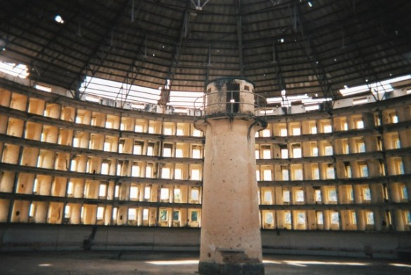 Like this prison in Cuba, the NSA has turned the U.S.A. into a place where the watchmen can see all.